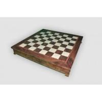 Nigri Scacchi - Шахматное поле-бокс с местом для укладки шахмат Box wood- Доска 35x35x4 см (CD52G) ( EDP58649 )