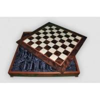 Nigri Scacchi - Шахматное поле-бокс с местом для укладки шахмат Box wood - Доска 64x64х12 (CD64G) ( EDP58650 )