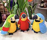 Інтерактивна іграшка мовець Папуга повторюшка М'яка іграшка папуга повторюха, фото 4