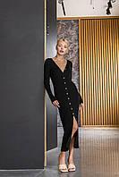 Платье-кардиган черный