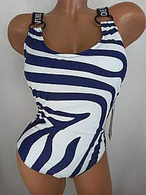 Цельный купальник зебра Love Me Z.five 55102 синий на 44 46 48  размер