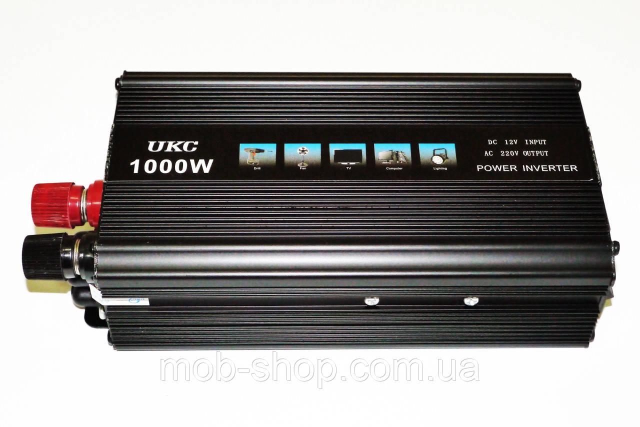 Инвертор преобразователь напряжения Power Inverter UKC 1000W 12V в 220V