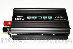 Автомобильный инвертор преобразователь напряжения Power Inverter UKC 1000W 12V в 220V