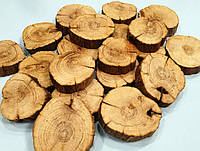 Срез дерева (4-6 см) дуб без коры