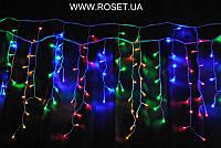 "Гирлянда LED ""Бахрома"" (ICICLE LIGHT), золотой, белый и мультицвет  4,5 * 0,5 м"