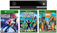Kinect 2.0 + Dance Central + Kinect Sports Rivals + Zoo Tycoon