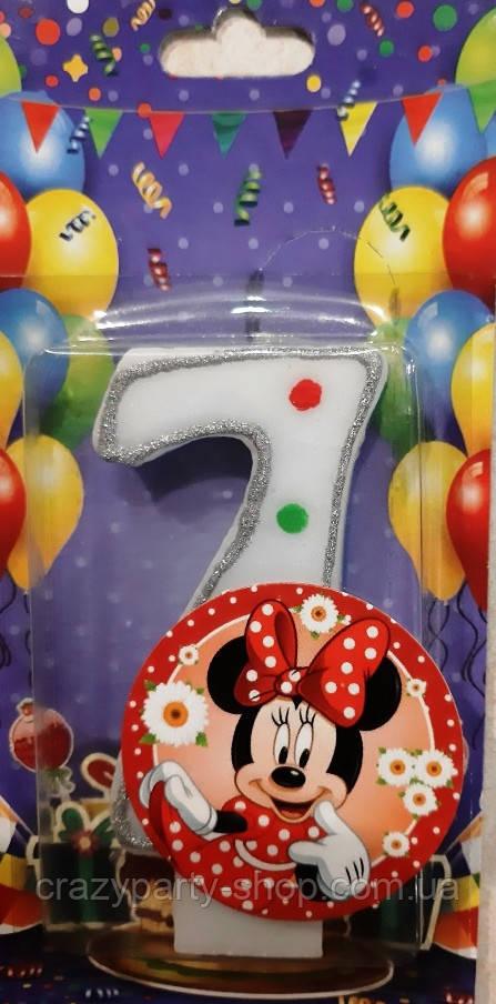 Свічка-цифра для торта Мінні Маус 7