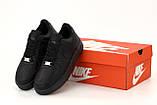 Кросівки жіночі Nike Air Force 1 Low Black у стилі найк форси Чорні (Репліка ААА+), фото 6