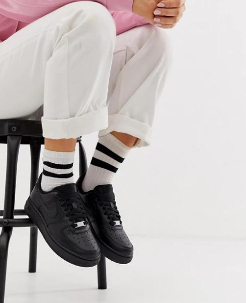 Кросівки жіночі Nike Air Force 1 Low Black у стилі найк форси Чорні (Репліка ААА+)