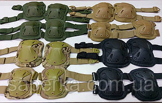 Защита тактическая Xtak, комплект (наколенники, налокотники). Цвет кайот, фото 3