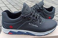 Кожаные кроссовки Columbia подростковые на мальчика на шнурке 35-39 размер