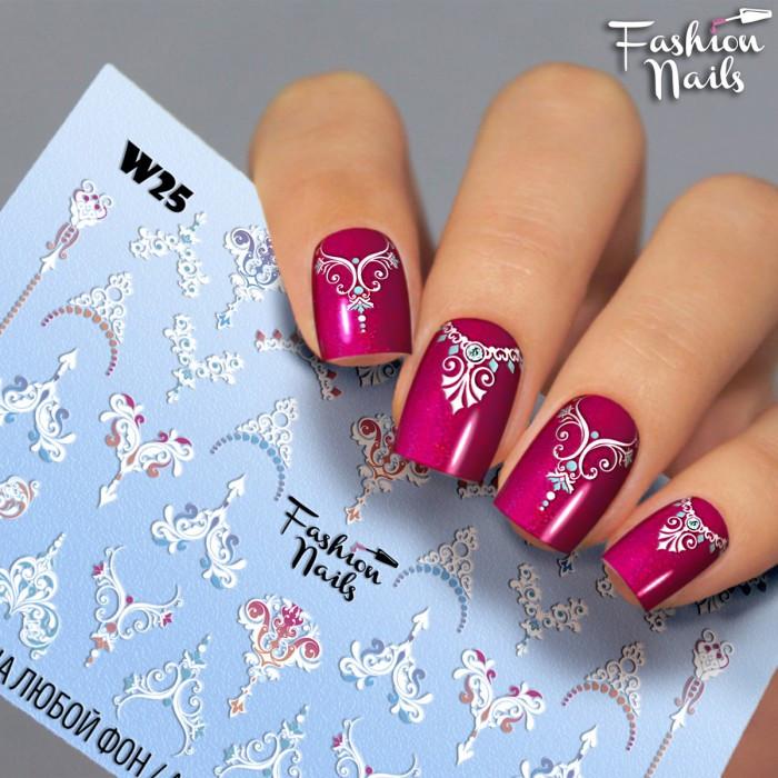 Слайдери водні наклейки ВЕНЗЕЛІ Мережива Fashion Nails Слайдер-дизайн Візерунки,Вензелі для дизайну нігтів