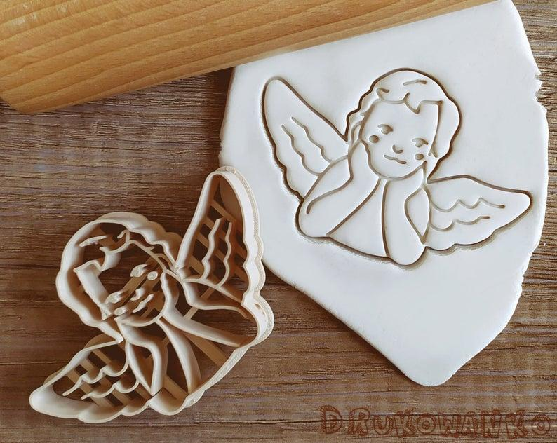 3Д Формочка Янголятко з крилами Вирубка для печива Янголятко з крилами