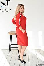 Плаття стильне жіноче пряме трикотажне розміри:, фото 2