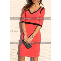 Платье  выше колен с черными кантиками, 2 цвета