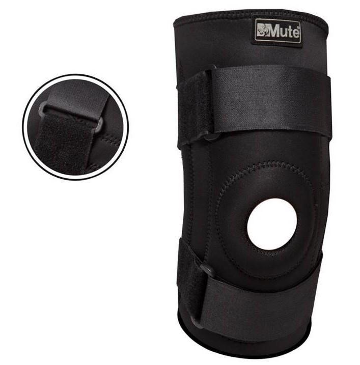 Наколенник спортивный Mute 1 шт. регулируемый с открытой коленной чашечкой (9046)