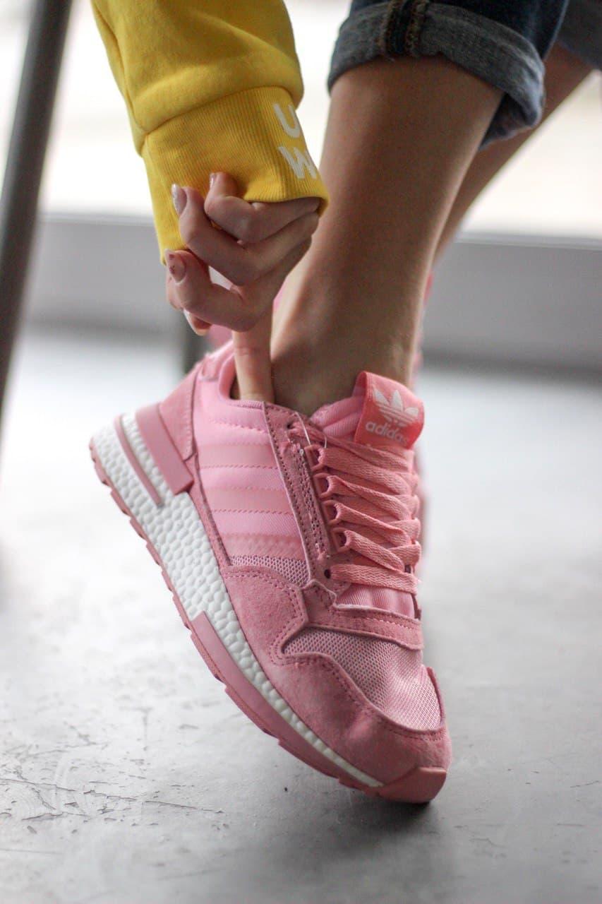 Жіночі кросівки Adidas ZX 500  PINK