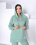 Жіночий спортивний прогулянковий костюм з капюшоном 50-654, фото 9