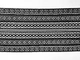 Стрейчевое (эластичное) кружево черного цвета шириной 22 см., фото 2