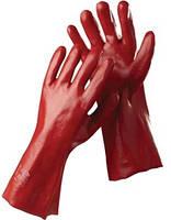 Перчатки рабочие МБC, красные 35см (плотные, качественные)