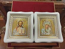 Ікони на весілля Пресвята Богородиця і Спаситель 27х24см
