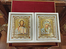 Весільні ікони Пресвята Богородиця і Спаситель 27х23см