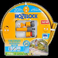 Набор для полива HoZelock 117035 шланг Ultraflex 19 мм 20 м + коннекторы
