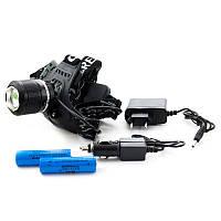 Светодиодный аккумуляторный ударостойкий налобный фонарь, водонепроницаемый фонарик Police Bailong BL-2199