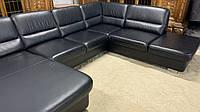 Шкіряний диван п-ка чорний.