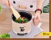 Мини электрокастрюля сковорода студенческая - командоровачная пароварка антипригарное покрытие, фото 3