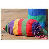 Гамак мексиканський 200*80 смугастий кольоровий, фото 5