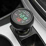 Вольтметр цифровий термометр автомобільний VST 706-1, фото 2