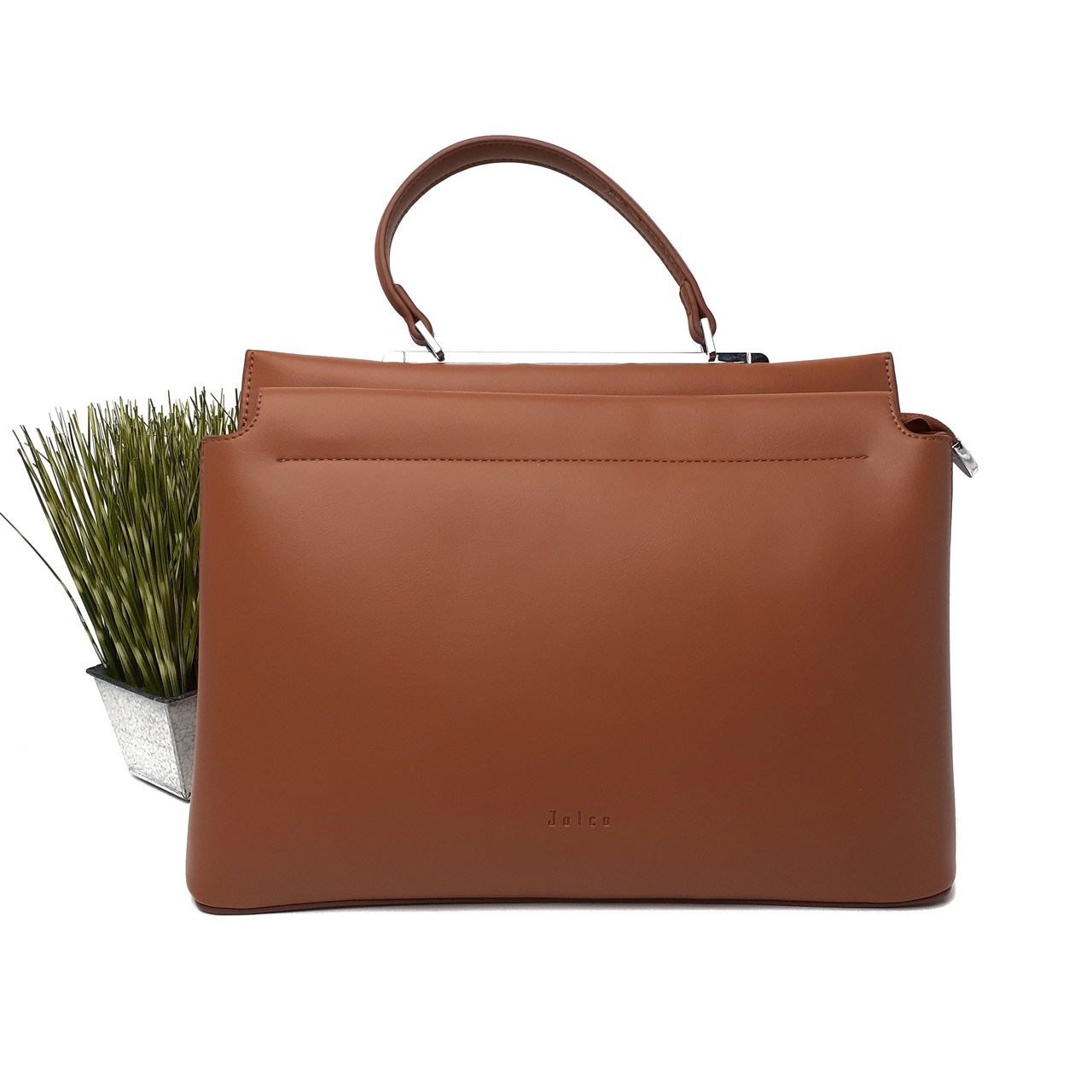 Велика жіноча сумка штучна шкіра руда Арт.XBY-20200712 brown Johnny (Китай)