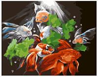 Картина по номерам Красочный олень, размер 50*40 см, зарисовка полная, на подрамнике