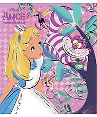"Тетрадь для записей А5/18 кл.  YES ""Alice in wonderland"" фольга золото+софт-тач, фото 2"