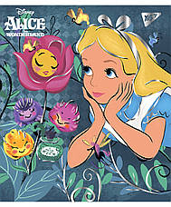 "Тетрадь для записей А5/18 кл.  YES ""Alice in wonderland"" фольга золото+софт-тач, фото 3"
