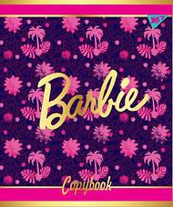 """Зошит для записів А5/12 коса лін. YES """"BARBIE"""" мат. ВДЛ+фольга золото+УФ.виб, фото 2"""