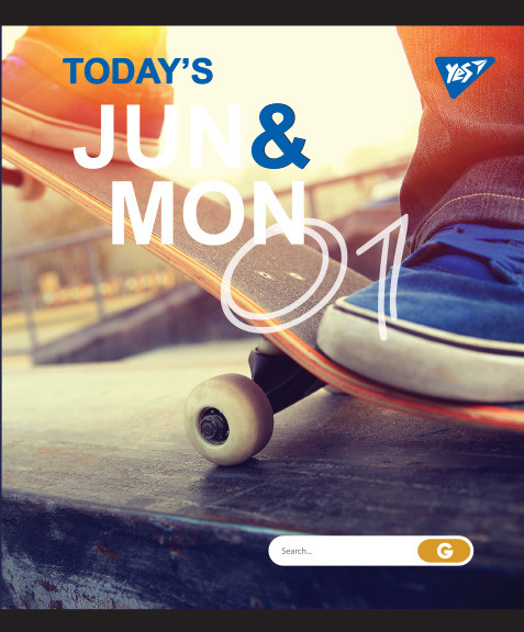 """Тетрадь для записей А5/24 лин.  YES """"JUN&MON"""" иридиум+софт.тач"""