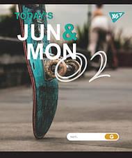 """Тетрадь для записей А5/24 лин.  YES """"JUN&MON"""" иридиум+софт.тач, фото 2"""