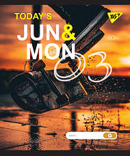 """Тетрадь для записей А5/24 лин.  YES """"JUN&MON"""" иридиум+софт.тач, фото 3"""