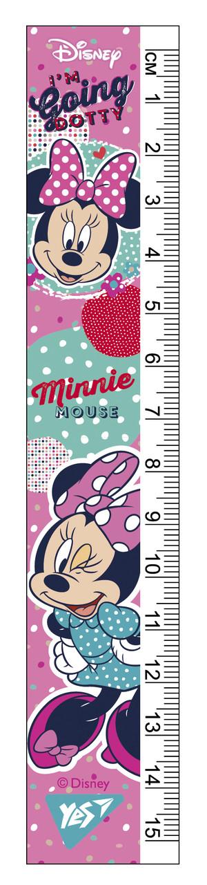 """Линейка YES 15см """"Minnie Mouse"""""""