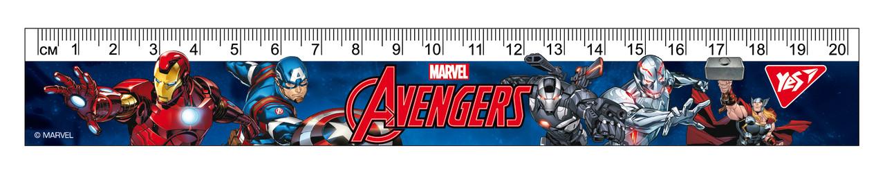 """Линейка YES 20см """"Marvel"""""""