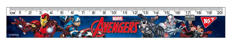 """Линейка YES 20см """"Marvel"""", фото 2"""