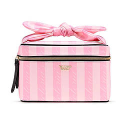 Набір косметичок Victoria's Secret Small Weekender Train Case, 2 в 1 в Рожеву смужку