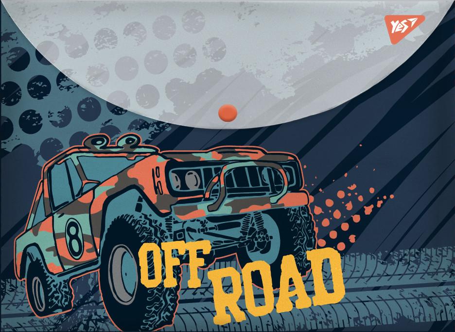 "Папка-конверт YES на кнопке А4 ""Of Road"""