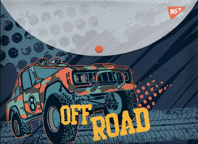 "Папка-конверт YES на кнопке А4 ""Of Road"", фото 2"