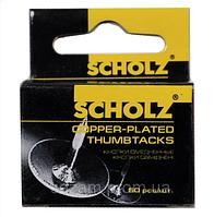 "Кнопки канцелярські металеві ""Scholz"" 50ш"