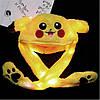 Светящаяся шапка Pikachu toys soft toys with led с двигающими ушками, фото 4