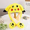 Светящаяся шапка Pikachu toys soft toys with led с двигающими ушками, фото 6
