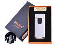 Електроімпульсна запальничка в подарунковій коробці Lighter 5009 Silver